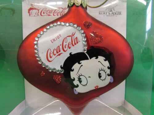 Betty Boop Glass Ornament by Coca Cola  Kurt Adler