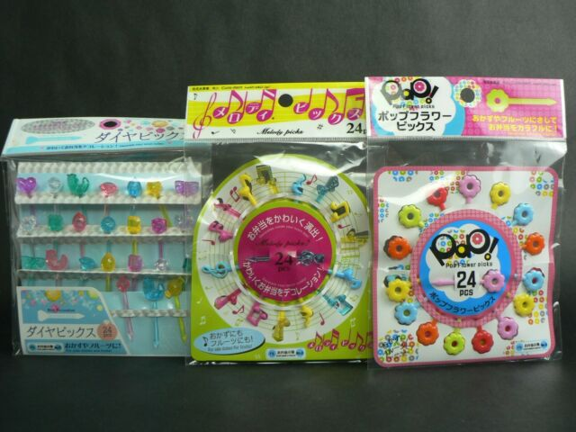 LOT OF 72PCS JAPAN PLASTIC STICKS COCKTAIL DRINK FRUIT PICKS PARTY FOOD DECORATE
