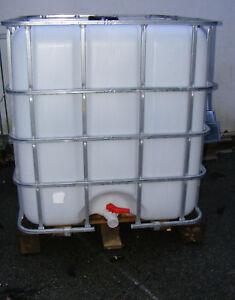 IBC-1000-Liter-Container-Regentonne-Brennholzlager