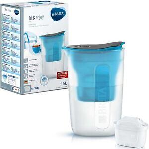 BRITA-Fun-Water-Filter-Compact-Fridge-Jug-and-MAXTRA-Plus-Cartridge-Refill-Blue