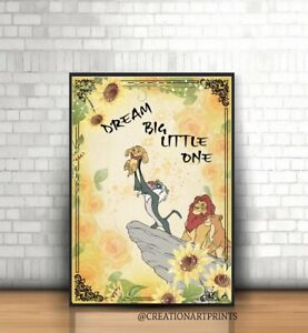 Details about ART PRINT The Lion King Quote wall art gift decor home love  disney Colourful