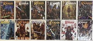 STAR-WARS-KANAN-LAST-PADAWAN-1-12-NM-1ST-APP-SABINE-WREN-MARVEL-COMICS-SET