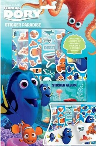 Finding Dory Autocollant Paradise-Livre Album /& Réutilisable Stickers Enfants Activité amusante