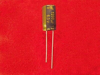 Capacitor electrolytic; low impedance; THT; 1200uF; 6.3VDC; ±20/% 5 pcs
