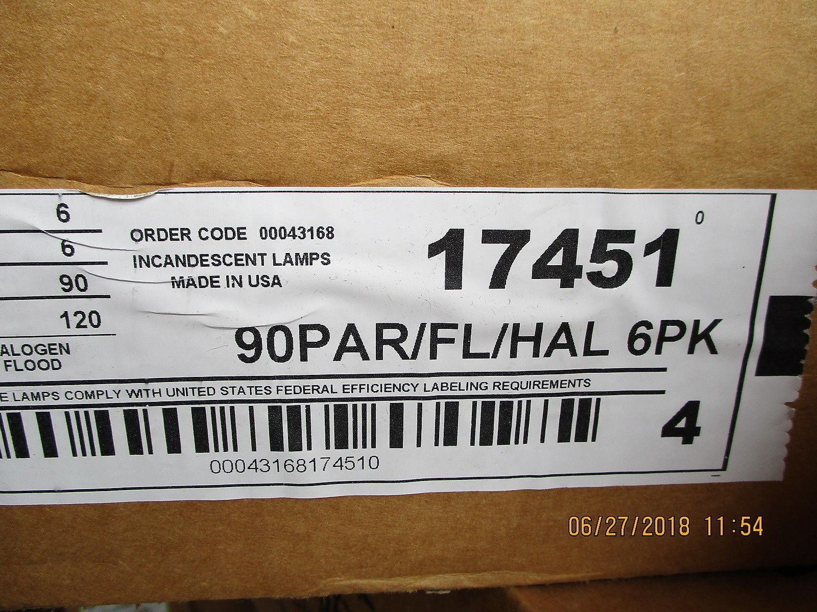 27214 de GE Lighting Ge 60w 120v PAR30 FL35 Bombilla Halógena flodlight  totalmente Nuevo