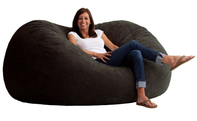 Big Joe Fuf Foam Filled Bean Bag Chair Size Xl Black