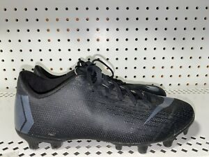 Nike-Mercurial-Vapor-12-Academie-pignon-fixe-Boys-Youth-Soccer-Crampons-Taille-3Y-Noir-Gris