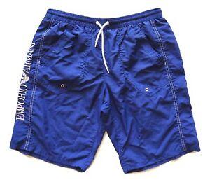 00bce5d7c7 Dettagli su EMPORIO ARMANI costume da bagno uomo boxer lungo bermuda 211298  2P421 blu 50