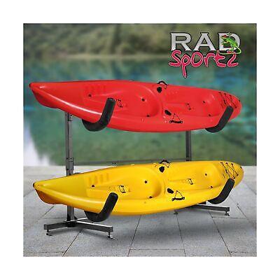 1006 Rad Sportz Deluxe Freestanding Heavy Duty Two Kayak Rack Storage Outdoor Ebay