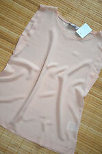 HALLHUBER DONNA Shirt Seidentop Top Gr. 36 / UK 8 neu 100% Seide Puder