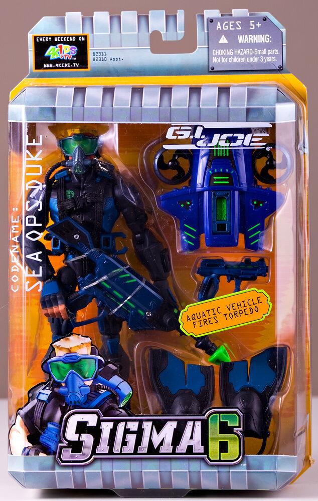 NEW Hasbro G I Joe Sigma 6 Sea Ops Duke MIB Soldier 2005 Factory Sealed Retired