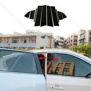 fit for Mazda6 M6 2014-2018 10pcs Mirror Effect Window Center Pillar Cover
