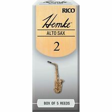 Rico Hemke Alto Saxophone Reeds #2.0 (5-Pack) NEW - five reeds