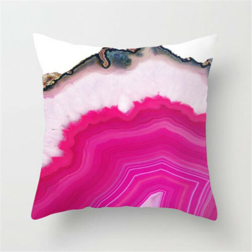 """Geometric Black Grey Throw Pillow-Cases Cushion Cover Bench Bedroom Outdoor 18/"""""""