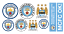 Official Manchester City FC Attacking Trio 20//21 Broken Wall Sticker /& Decal Set