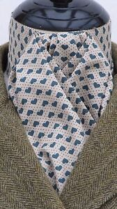 Ready Tied Coffee amp Green Hearts Cotton Riding Stock  Show Tie Hunting Eventing - Ammanford, Carmarthenshire, United Kingdom - Returns accepted Most purchases from business sellers are protected by the Consumer Contract Regulations 2013 which give you the right to cancel the purchase within 14 days after the day you receive the item. F - Ammanford, Carmarthenshire, United Kingdom