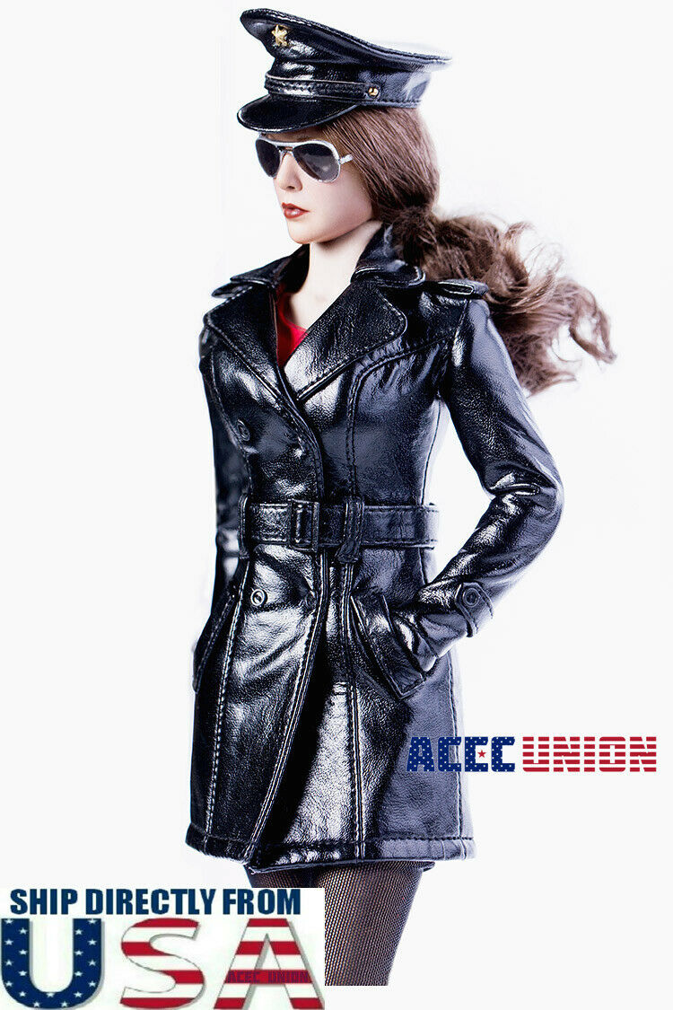 1 6 Leather Trench Coat Kleid Set with schuhe For 12  PHICEN TBL Hot Toys Female