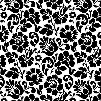 D C FIX VINTAGE BAROQUE BLACK WHITE STICKY BACK PLASTIC SELF ADHESIVE VINYL FILM