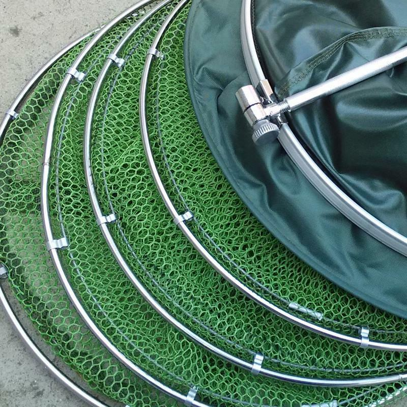 Double Stainless Steel Rings 5 Layers Collapsible Fish Care Net Folding Shrimp