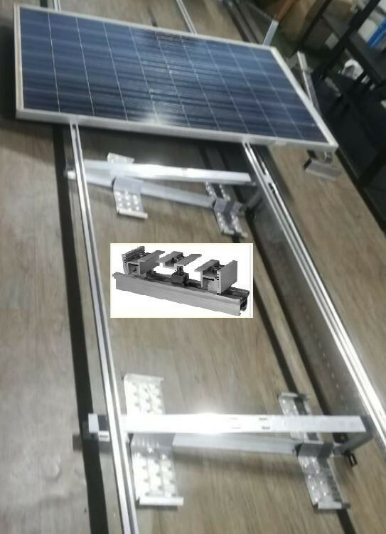 Solar panel mounting systems Aluminium & stainless steel bolts    ( Contact for Price )