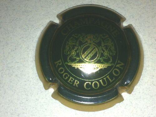 8. vert-noir et or Capsule de champagne COULON Roger