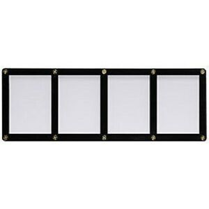 Ultra-Pro-4-Screw-4-Card-Black-Border-Screwdown-Card-Holder-Recessed-Ultra-Clear