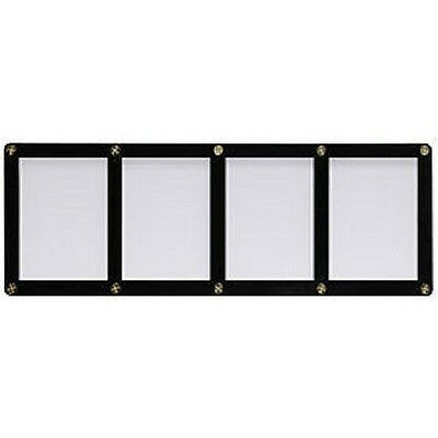 Ultra Pro 4-Screw 4-Card Black Border Screwdown Card Holder Recessed Ultra Clear