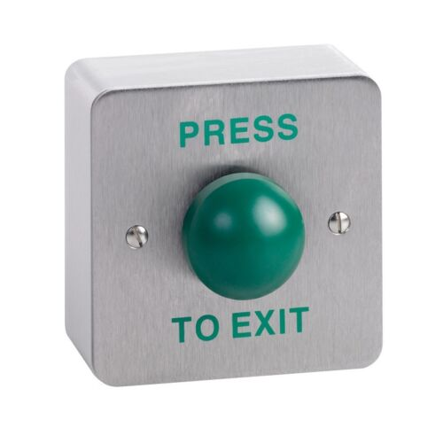 CLS004F Contract Lock flush s//s green dome exit button