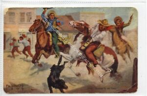 Gb2450-497-Shooting-up-the-Town-by-F-W-Schultz-Cowboy-USA-1907-G