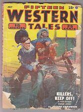 Fifteen Western Tales Feb 1952 Pulp Joseph Chadwick C William Harrison Phil Ray
