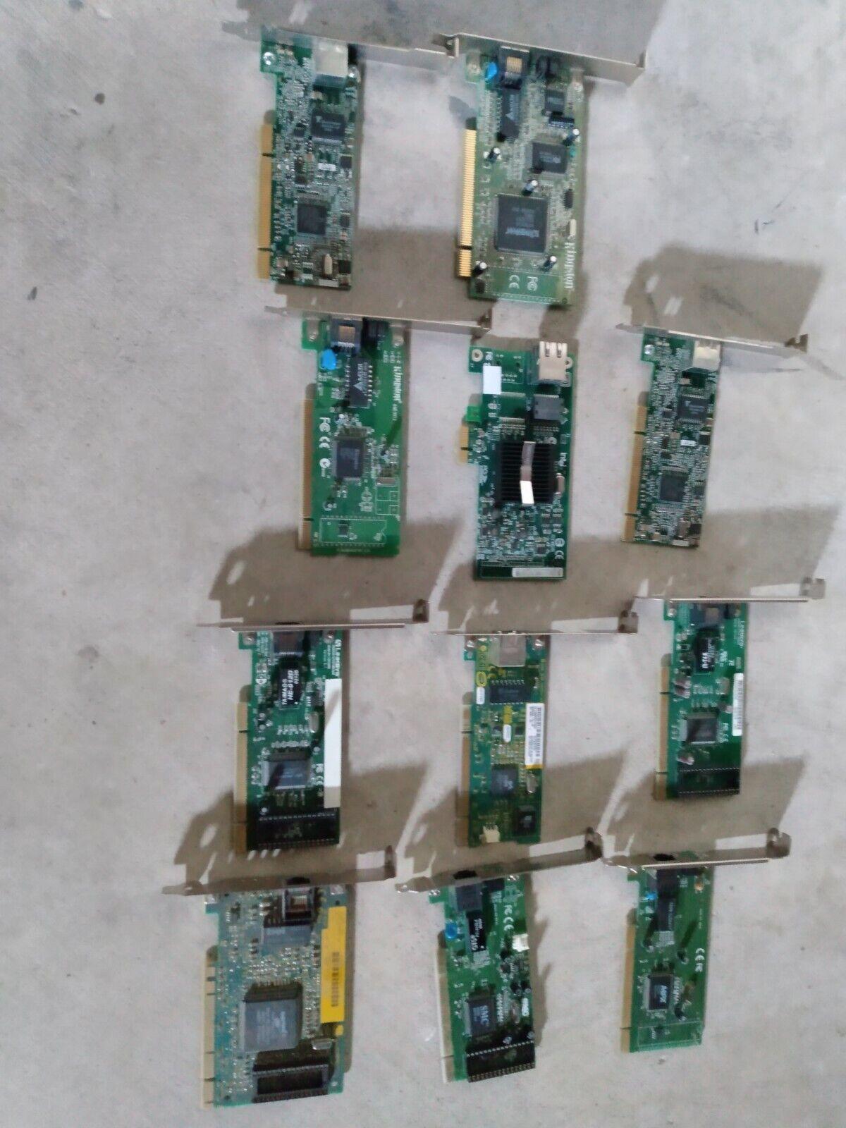 Lot of 11 ethernet cards