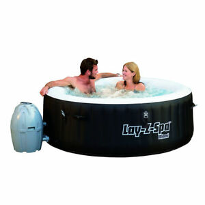 Bestway Lay Z Miami Bubble Massage Spa Set 4 People Portable