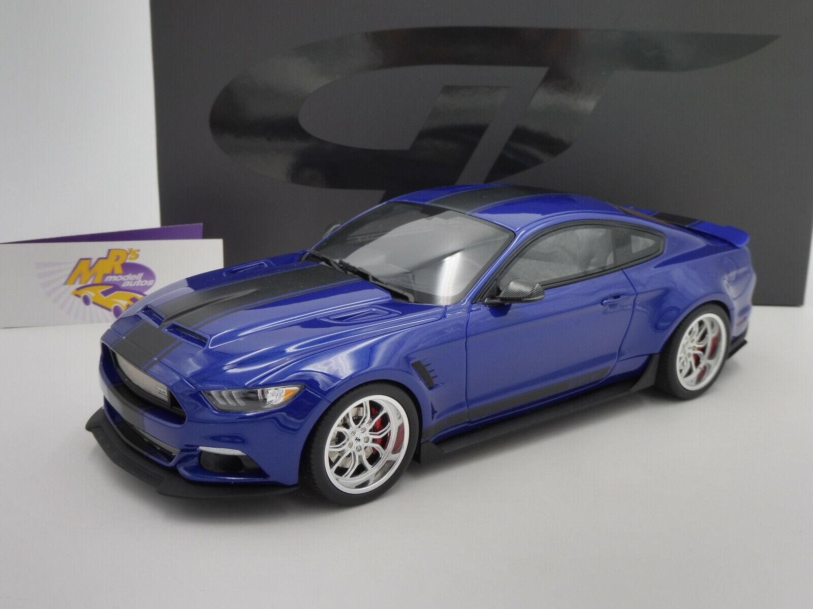 GT SPIRIT gt238   Ford Shelby gt-350 Widebody année modèle 2017  bleumetallic  1 18