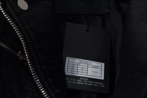 Missguided Faux 2 Jacket Us Leather Størrelse Sort Ny Biker Bubble ZgPgBnxW