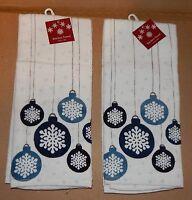 Christmas Kitchen Towels 2ea 16.5 X 26 Cotton 100% Shopko Ornaments 89m