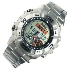 Authentic NEW CASIO AMW-704D-7A MOON PHASE HUNTING TIMER THERMOMETER MENS WATCH