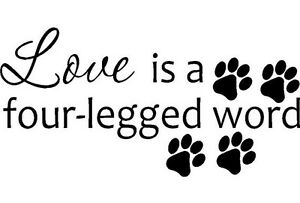 Image Is Loading Love Is A Four Legged Word Vinyl Wall