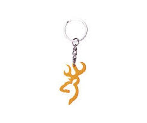 Browning Buckmark Logo Key Chain Blaze Orange Keychain