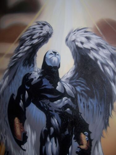 Spawn Wings of Redemption 40x28inches Oil Painting NOT a print or poster PTO