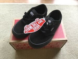 caja School 27 Canvas Atwood Bnwt Uk10 Zapato Eur Vans Black en qRBOIwUv