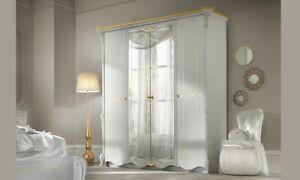 Kleiderschrank Schlafzimmerschrank Spiegelturen Klassische