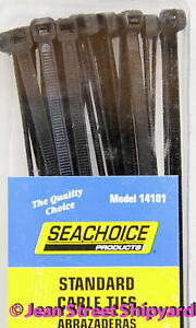 25 PK 8 inch Marine Nylon UV Resistant Cable Ties 14101