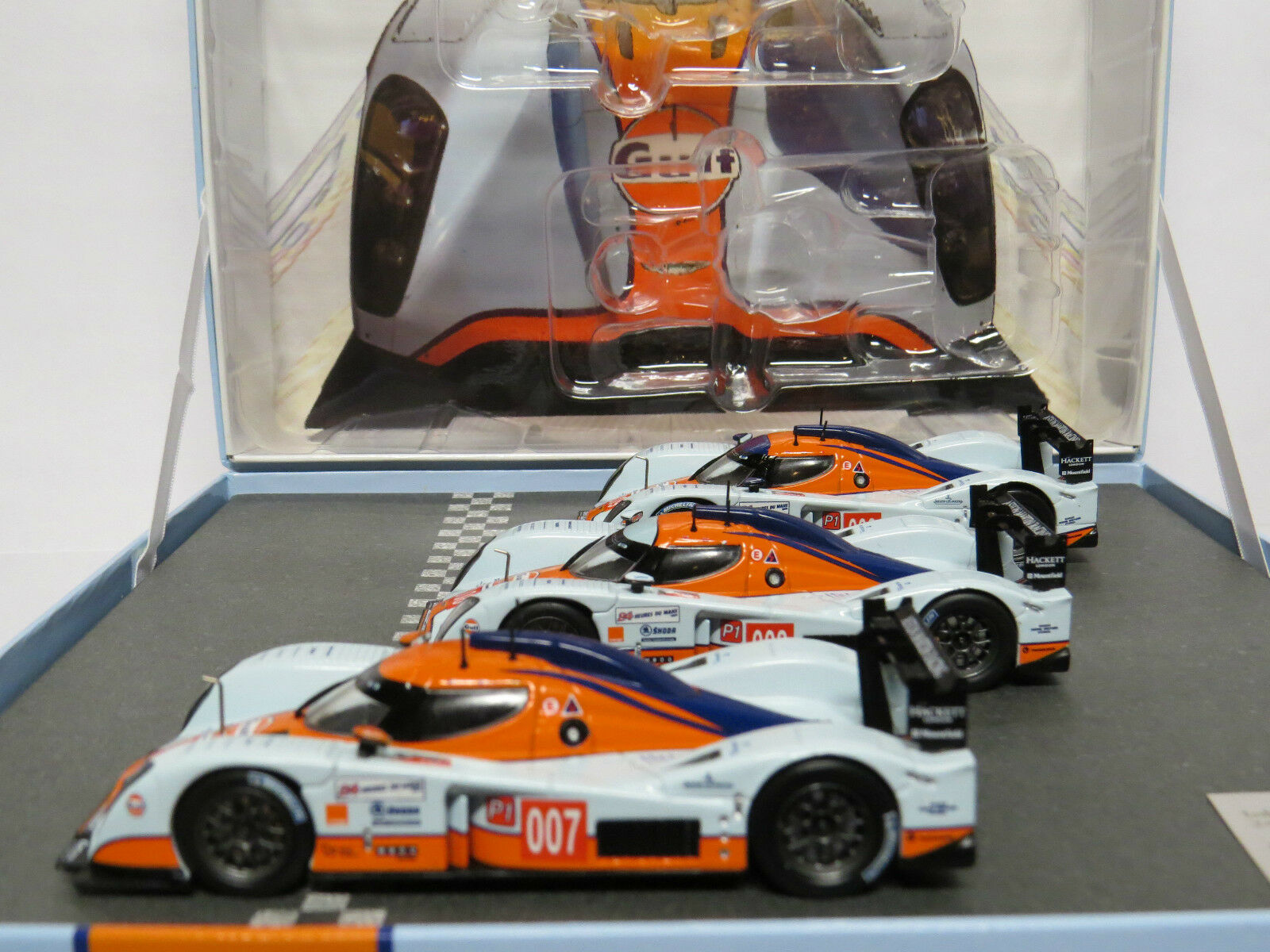 Norev  1 43 270512 Gulf 24h Le Mans set Lola Aston Martin Racing Lmp 1 2009  vente de renommée mondiale en ligne