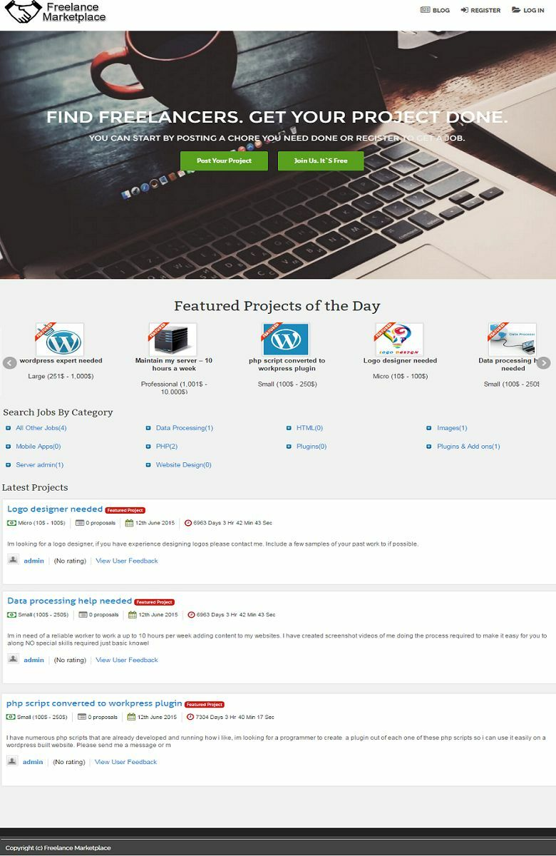 FREELANCE MARKETPLACE WEBSITE BUSINESS FOR SALE! 100% AUTOMATED! MOBILE FRIENDLY
