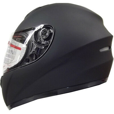 LEOPARD Solid Matt Black Motorcycle Helmet Full Face Scooter Crash Motorbike