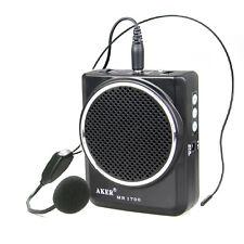 Portable Voice Amplifier MP3 Speaker Microphone Headset Waist For Teach Meeting