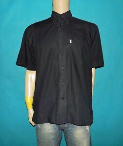 chemise-FERAUD-made-France-en-coton-noir-taille-38-15-ou-L-tres-bon-etat
