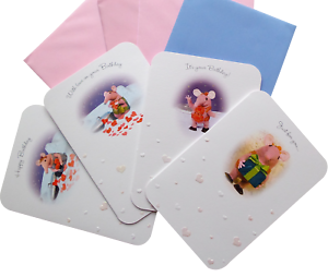 THE CLANGERS White Birthday Cards 17x12cm Granny Mother Small Tiny Sold Singly