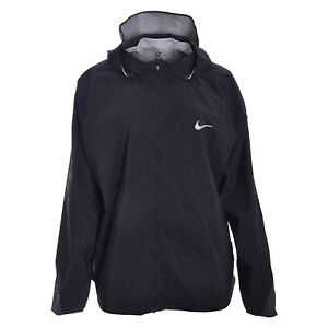 23cce747aa4c Image is loading NIKE-HyperShield-Lightweight-Full-Zip-Black-Running-Jacket-