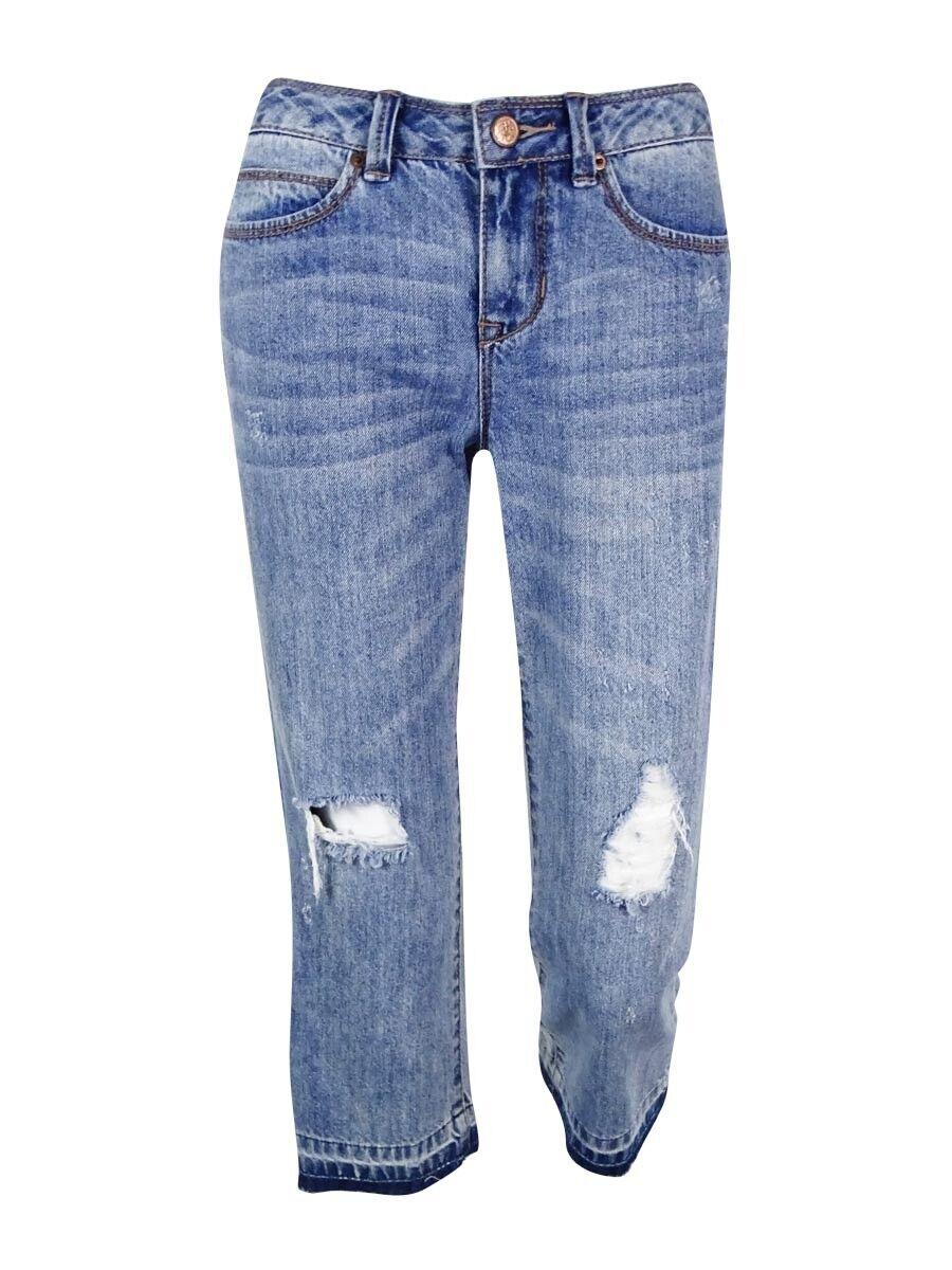 American Rag Juniors' Mid Rise Crop Jeans 7, bluee